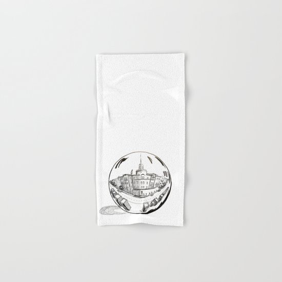 City in a glass ball Hand & Bath Towel