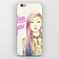 2ne1 iPhone & iPod Skins featuring I Love You Everyday by Orionebula