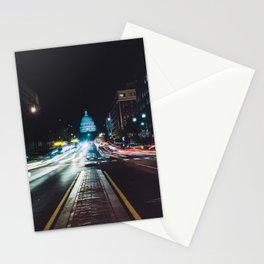 Traffic On North Capitol Stationery Cards