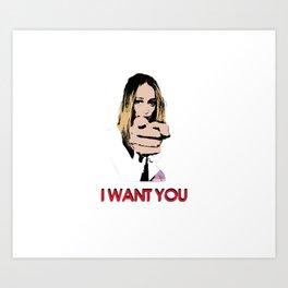 """I want you"" Alycia Debnam Carey Art Print"