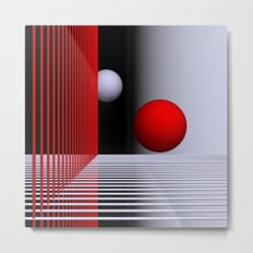 experiments on geometry -5- Metal Print