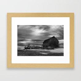 The Sun Sets on a Centralia, Iowa Farm Framed Art Print