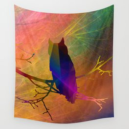 ap071 Bird on branch Wall Tapestry