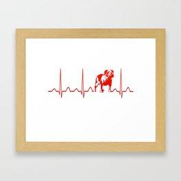 BULLDOG HEARTBEAT Framed Art Print