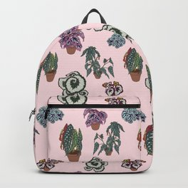 Begonia Illustrated Pattern Backpack