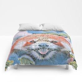Watercolors-Red Panda Comforters