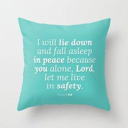 Psalm 4:8 v2 Throw Pillow