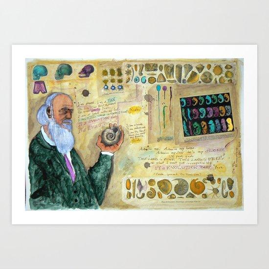 DO THE EVOLUTION Art Print