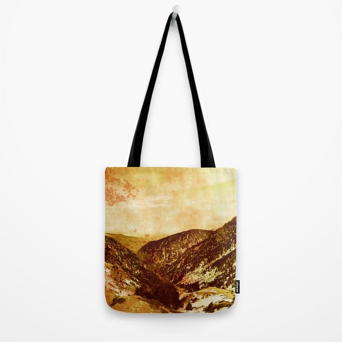 fantastic mountains, vintage  Tote Bag