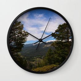 Rocky Mountain National Park View Wall Clock