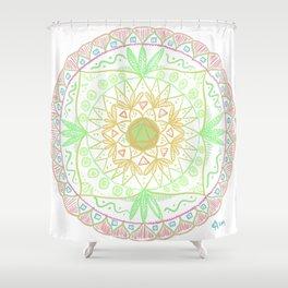 d20 Mandala 2 Shower Curtain