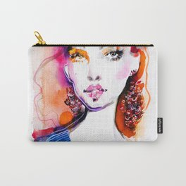 Bright colors beauty fashion illustration Carry-All Pouch