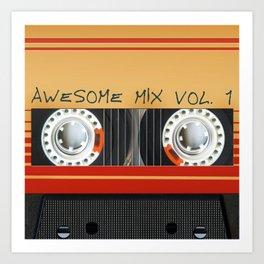 Awesome Mix Cassette Vol.1 Art Print