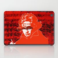 beethoven iPad Cases featuring Ludwig van Beethoven · red10 by Marko Köppe