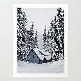 Emerald Lake Lodge Art Print