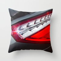 mercedes Throw Pillows featuring Mercedes-Benz SL 63 AMG Bi-Turbo Back Light by Mauricio Santana