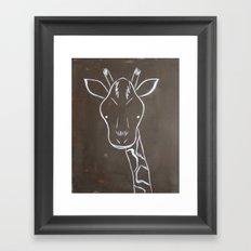 No. 004 - The Giraffe (Modern Kids & Nursery Art) Framed Art Print