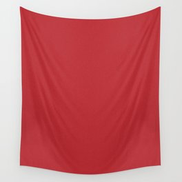 Fire Engine Red Saturated Pixel Dust Wall Tapestry