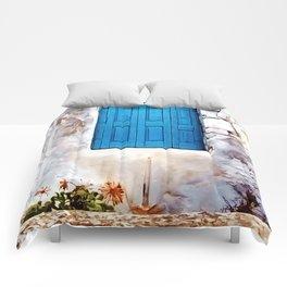 Cretan Door No2 Comforters