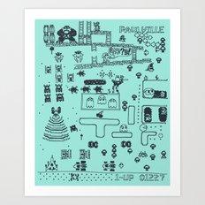 Retro Arcade Mash Up Art Print