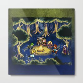 Chrono Trigger Camping Scene Metal Print