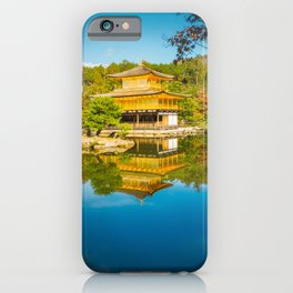 Golden Pavilion Panorama in Kyoto, Japan. iPhone Case