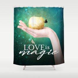 Love is Magic Shower Curtain