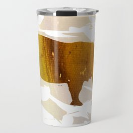 Colorful Art Rhino Abstract Yellow Travel Mug