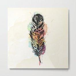 Watercolor feather AP096 Metal Print