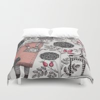 winter Duvet Covers featuring Winter Garden by Judith Clay