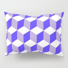 Diamond Repeating Pattern In Nebulas Blue and Grey Pillow Sham