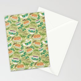 Tea Time Pattern Stationery Cards