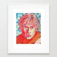 luke hemmings Framed Art Prints featuring Luke by dancingcatartwork23