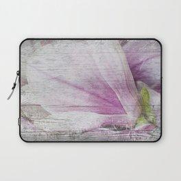 Magnolia Flower  on old wood Laptop Sleeve