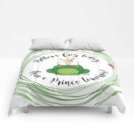 Funny Frog || Better a frog today... || Hen Party || Engagement || Funny gift Comforters