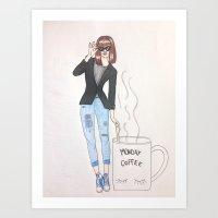 Monday Coffee Art Print
