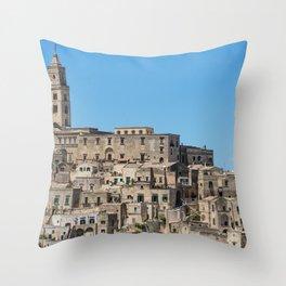 Sassi di Matera ancient city Throw Pillow