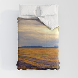 cultivated field in autumn season Comforters