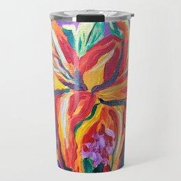 Bright Flowers Travel Mug
