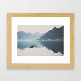 boat reflections ... Framed Art Print