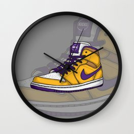 J1-Lakers Wall Clock