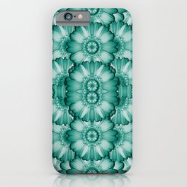 Sea and florals in deep love iPhone Case