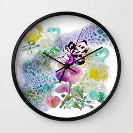 Butterfly Lady Wall Clock