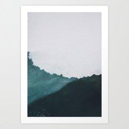 Layered Waves Art Print