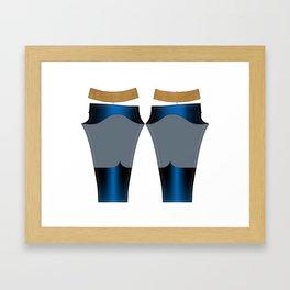 Superhero Leggings - Male Framed Art Print