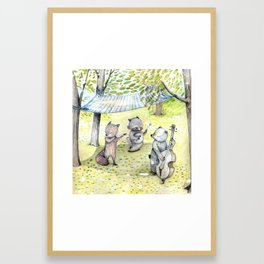 Woodland Band. Framed Art Print