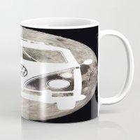 volkswagon Mugs featuring Moon Wagon by Isaak_Rodriguez