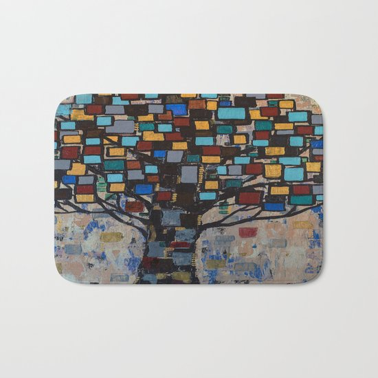 :: Stained Glass Tree :: Bath Mat