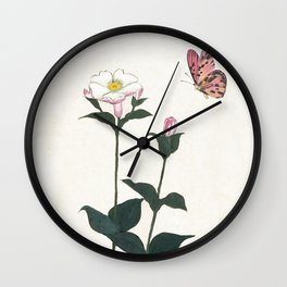 Fly by Butterfly Wall Clock