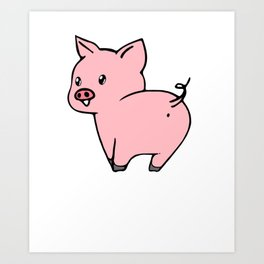 Cute And Filthy Pig Lover Art Print